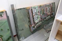 De maquette in 2 delen opgeslagen in het depot van 's-Hertogenbosch